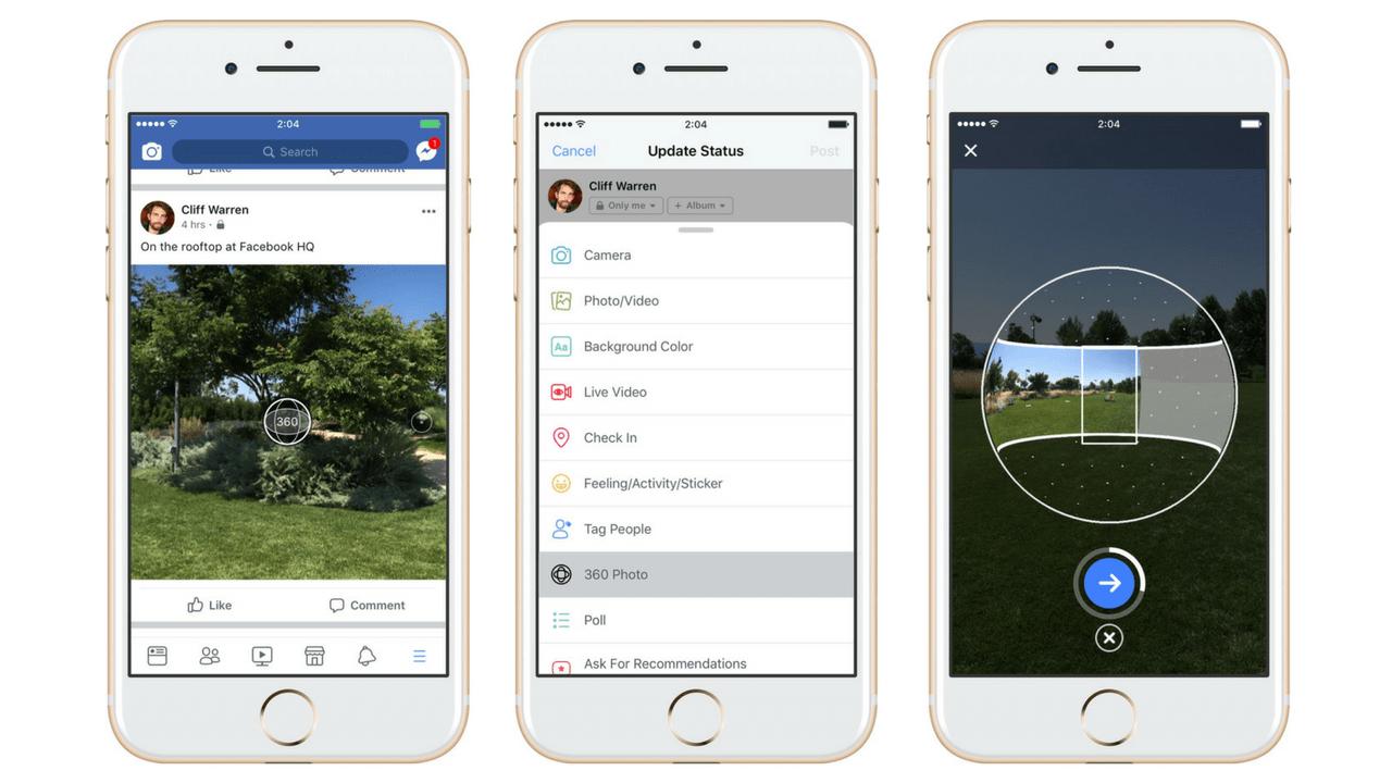 Facebook: 360 градусное фото теперь можно создавать с помощью мобильного приложения