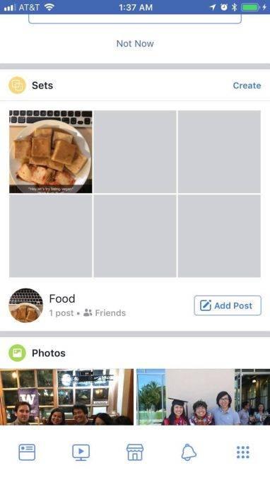 Set в Facebook